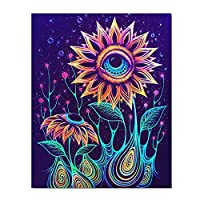 WJKVDS Colorful Flowers Posters On Canvas Wall Art For Home Office Decorations-16X20 Inch