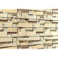 PEGAZOU(ペガ蔵) はがせる 3D 壁紙 シール 大理石ミルクティブラウン 45cm×10m