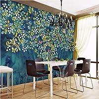 Weaeo 3次元のノベルティ抽象的なマネーツリーのバーコーヒーショップの壁のDecoative風景の花壁紙壁画カスタムサイズの壁紙-200X140Cm