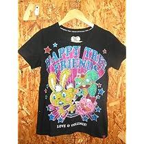 HAPPY TREE FRIENDS ハッピーツリーフレンズ Tシャツ < ハピツリTシャツ ハピツリTシャツ ハピツリ ギグルス カドルス ナッティ ランピー グロキャラ きゃりーぱみゅぱみゅ > (ブラック)
