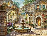 カラービーズ ストーン画 ヨーロッパ風景 (6)