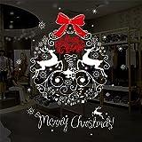 AWHAO ウォールステッカー クリスマスステッカークリスマス トナカイ Merry CHRISTMAS かわいい 子供部屋 窓 壁紙