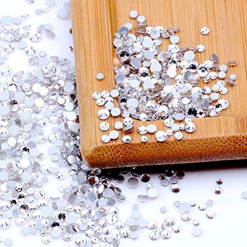 圧縮広告する悲惨なNizi ジュエリー ブランド ホワイトクリスタル ラインストーン はガラスの材質 ネイル使用 型番ss3-ss60 (SS3 1440pcs)