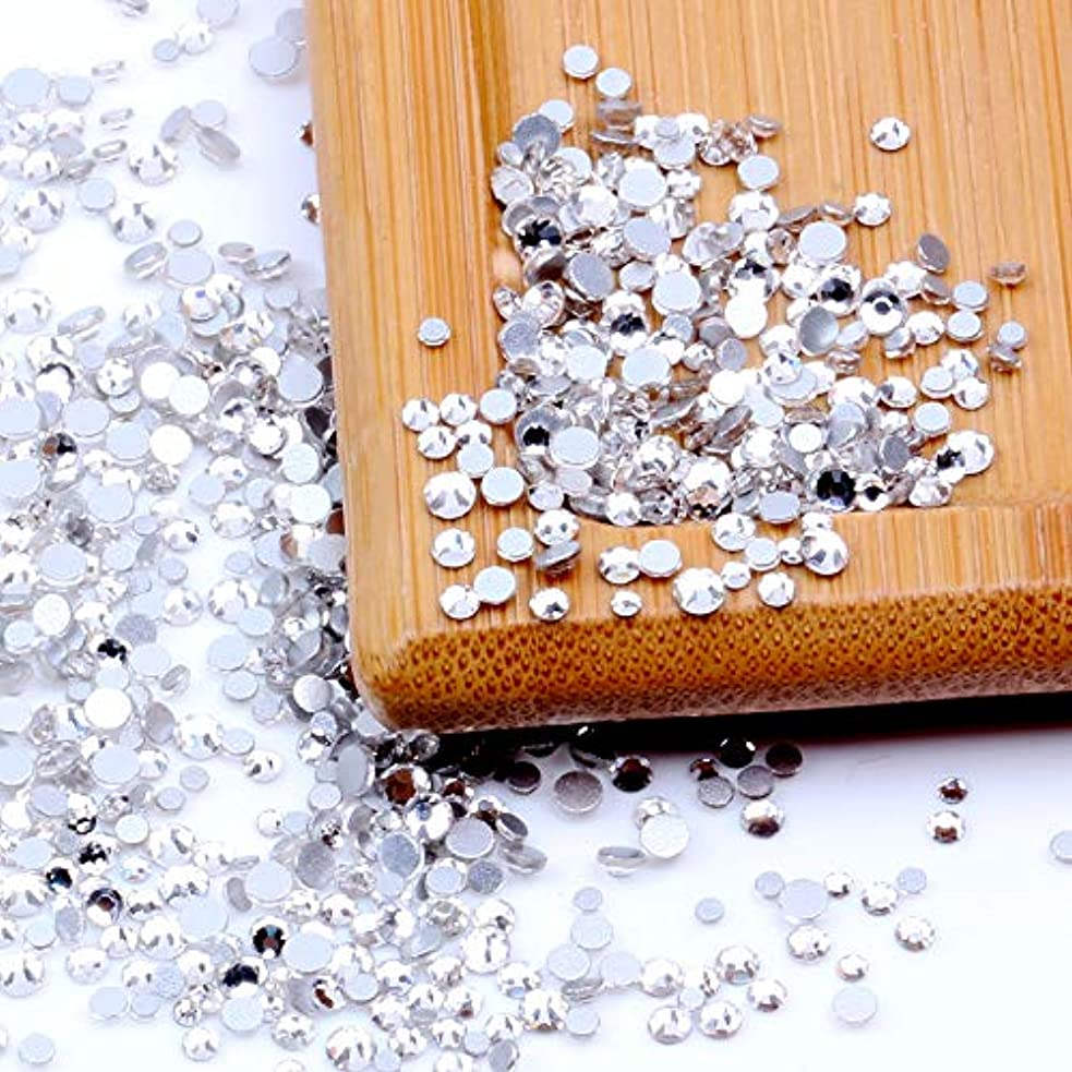 永続商品一回Nizi ジュエリー ブランド ホワイトクリスタル ラインストーン はガラスの材質 ネイル使用 型番ss3-ss60 (SS8 1440pcs)