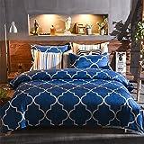 北欧 ファッション きらきら輝く マリンブルー 寝具カバーセット 掛け布団カバー フィッティドシーツ 枕カバー
