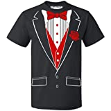 Promotion & Beyond P&B Tuxedo Red Rose Funny Men's T-Shirt