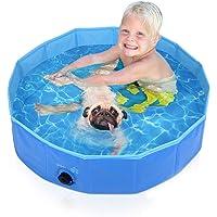 Pecute プール 子供用 ペット用 ベビープール 庭 プール バスタブ 頑丈設計 安心安全な 水遊び スイミング 空…