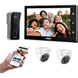 """TMEZON 10"""" Wireless Video Doorbell Intercom WIFI IP Door Phone Montion Detection Entry System with 1x720P Security Camera Kit"""