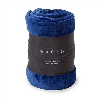 mofua(モフア)毛布 シングル ネイビー 1年間品質保証 静電気防止加工 プレミアムマイクロファイバー 50000107