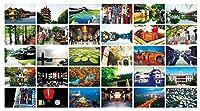 30 PCS美しい中国旅行の風景芸術的なレトロフォトポストカード - S7