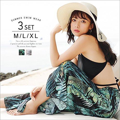 [해외]OSYAREVO 수영복 여성 큰 사이즈 수영복 비키니 넥 와이드 팬츠 M | L | XL 보태니컬/OSYAREVO Swimwear Women`s Large Size Swimwear Bikini HeNeck Wide Pants M | L | XL Botanical