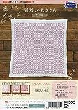 オリムパス製絲 一目刺しキット 花ふきん 桜の花 白 SK-335