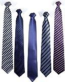 Orienex ネクタイ 5本セット 洗濯ネット付き ストライプ ドット 無地 花柄 ビジネス 就活