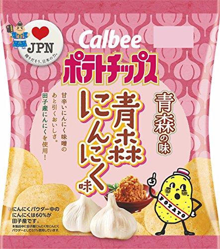 【甘辛】カルビー ポテトチップス青森にんにく味 12袋