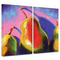 ArtWall Susi Franco 「Pearfect Shadow」 ギャラリーラップキャンバスアートワーク 2枚 24x36 0fra061b2436w