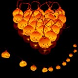 Yibaision ハロウィン 飾り パンプキンライト 3m 20球 LEDライト カボチャ 電池式 ストリングスライト 点灯・点滅2つモード 照明飾り ハロウィンかぼちゃ 防水 室内 屋外 パーティー ハロウィン飾り物