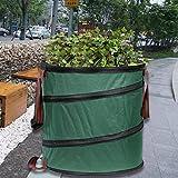 Firlar ガーデンバッグ ガーデン用収草袋 集草バッグ ガーデンバッグ 折り畳み 自立式 丸大 枯れ葉 落ち葉 雑草 丈夫 エクステリア バッグ 便利 アイテム 収納専用バッグ