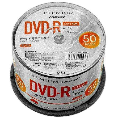 ハイディスク プレミアムハイディスク データ用DVD-R 16速 HDSDR47JNP50 50枚入  ハイディスク HI DISC