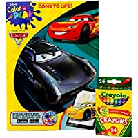 ピクサーカーズ3カラーand Play Coloring and Activity Book and Crayolaクレヨン24 Nontoxic