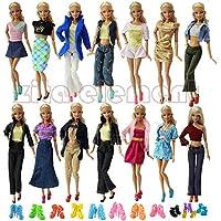 ZITA ELEMENT バービー用服装 きせかえセット ラダム 10セットバービー用服+バービー人形用の10足靴 1/6サイズ(約30cm)ドール適用