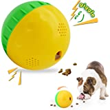HOLYSTEED Dog Treat Ball Mentally Stimulating Dog Toys Squeaky, Interactive Dog Toys Puzzle, Wobble Wag Giggle Dog Ball IQ 4.