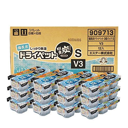 【ケース販売】 備長炭ドライペット 除湿剤 使い捨てタイプ (420ml×3個パック)×12個