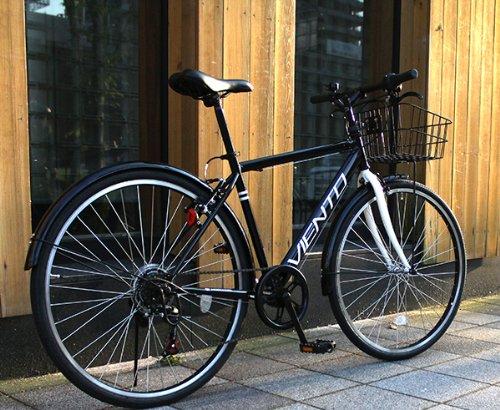 トップワン(TOP ONE) 26インチシティクロスバイク シマノ製6段ギア ブラック T-MCA266-43-BK ブラック・ピンク・ホワイト