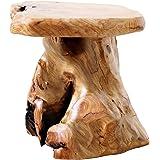 Laptain スツール ナチュラル 古木スツール 丸椅子 花台 テーブル サイドテーブル 完成品