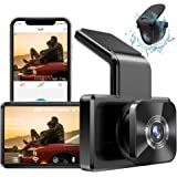 "AUTOWOEL Dual Dash Cam with WiFi GPS, Front and Rear Car Camera with 3"" IPS Screen DVR, Dashboard Camera Full HD 1080P Drivin"