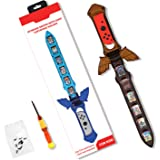 【2021 NEWEST LISTED】AolsteCell Handle Grip Game Sword for Switch Joy Con, The Legend of Zelda Skyward Sword HD,Accessories Co