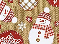 holiday stitches toss wrap gift wrap flat sheet 24 x 6 holiday