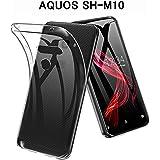 SLuB AQUOS Zero ケース SH-M10 ケース TPU 耐衝撃 カバー aquosゼロ ソフトケース (クリア 613)