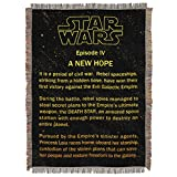 """Best 毛布スターウォーズ毛布 - Northwest Star Wars A新しいHope openingクロールTapestry Throw Blanket 48"""" Review"""