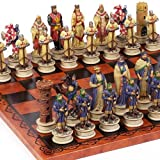 Crusade Chessmen &Georgio Chess Board From Italy Large, King: 4 1/2 by Bello Games New York, Inc.