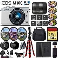 Canon EOS M100 ミラーレスデジタルカメラ 15~45mmレンズ付き ホワイト 国際モデル