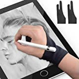 Youdiao Two-Finger Artist Glove for Drawing Tablet 2PCS - Palm Rejection Gloves for Paper Sketching, iPad, Graphics Drawing T