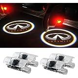 Moonet 4 x Door LED Courtesy Shadow Ghost Welcome Lamp Projector Light for Infiniti Ex Fx G M Series Q50 Q70 Q60 Q70 Qx50 QX5