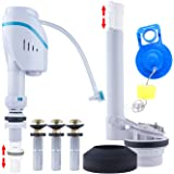 Universal Toilet Repair Kits, Complete Toilet Tank Repair Kit For 2-Inch Flush Valve Toilets with Fill Valve, Toilet Flapper