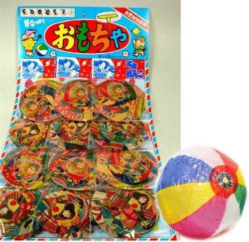 【台紙玩具】 武者めんこ  (丸めんこ6枚セット×12付) / お楽しみグッズ(紙風船)付きセット