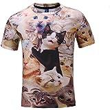 (オリログ) ALLYLOG スペースキャット 半袖 Tシャツ プリント おもしろTシャツ カジュアル カットソー デザイン メンズ