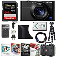 Sony dsc-rx100m5- ShotデジタルカメラW / agr2グリップ& 64GB Accessoryバンドル
