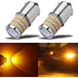 iBrightstar Newest 9-30V Super Bright Low Power 1156 1141 1003 BA15S LED Bulbs with Projector replacement for Turn Signal Lig