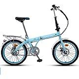 "Gvqng 20"" Lightweight Alloy Folding City Bike Bicycle, Mechanical Disc Brake- 16AF02W"