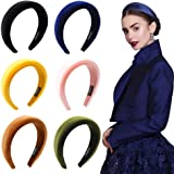 Headbands Women Hair Head Bands - 6 Pcs Accessories Velvet Padded Head Bands Cute Beauty Fashion Hairbands Girls Vintage Hair