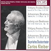 Kleiber Conducts Mozart: Symphonies 33 (1996) & 36 (1987); Brahms Symphonies 2 (1987) & 4 (1996); Beethoven: Coriolan Overture (1996)