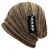 (エクサス)EXAS ジャガードタックワッチ(最大約65cm 伸縮性大)(ニット帽 ニット帽子 ニットワッチ ビーニー) ベージュブラウン