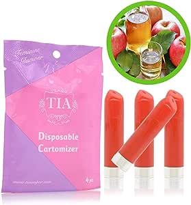 TIA ティア ビタミン入り 口紅型 電子タバコ 専用 フレーバーカートリッジ (アップルジュース)