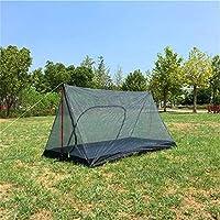夏にキャンプする単極屋外テント