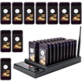 Retekess T112 Restaurant Pager System 30 Pagers Max 999 Buzzer with 30 Beepers Wireless Calling Paging System for Restaurants