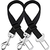 2 Adjustable Car Seat Belts for Dogs & Cats --- Triple The Survival Rate in Accidents - Prevent Stress from Travel in Kennel
